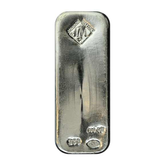 JM 100 oz Silver Bar