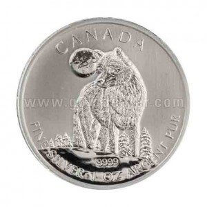 Canadian Silver Wildlife Wolf 1 oz