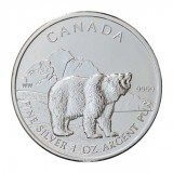 Canadian Silver Wildlife Grizzly 1 oz