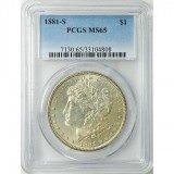 Morgan Silver Dollar PCGS MS65